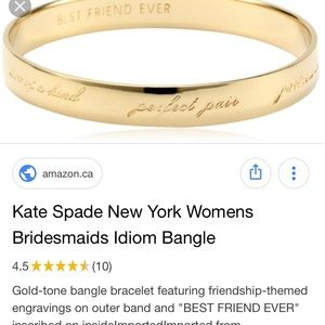Kate spade best friend ever bracelet. NWOT .